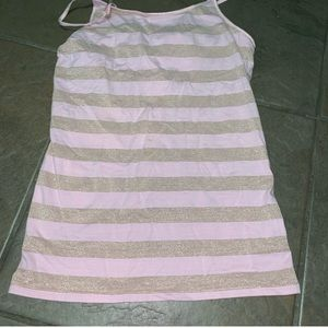 Mossimo pink & gold striped tank top